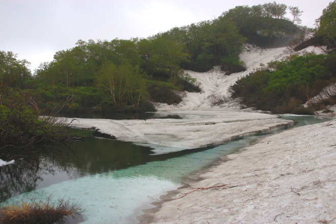大雪 高原沼