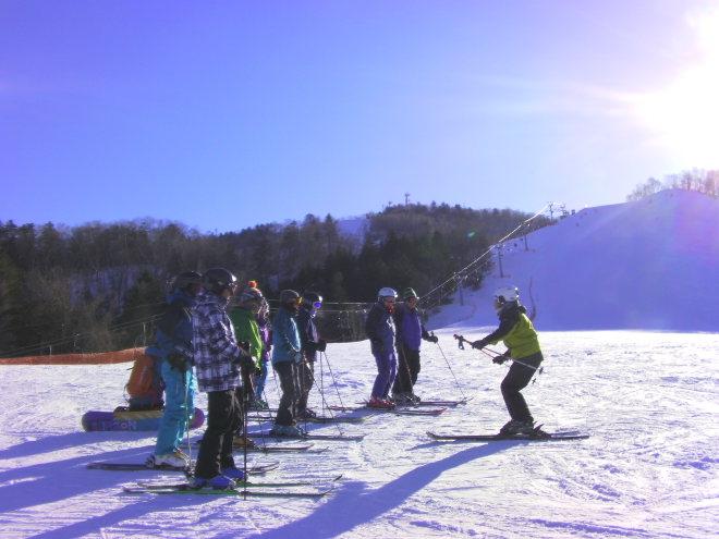 スキー場練習