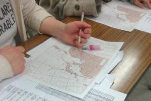 天気図を書く