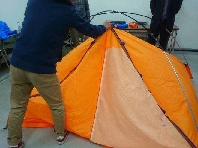 テント設営練習
