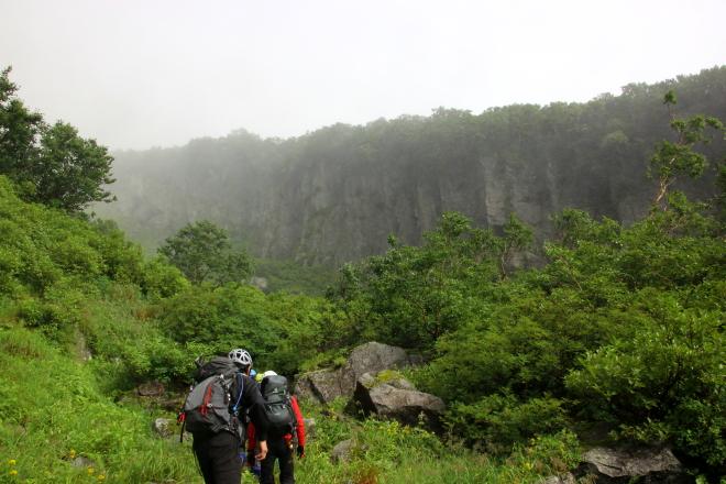 羅臼岳 屏風岩