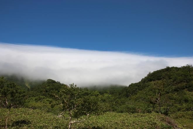 羅臼岳 雲