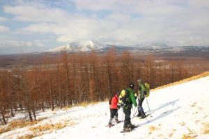温泉富士から見た西別岳