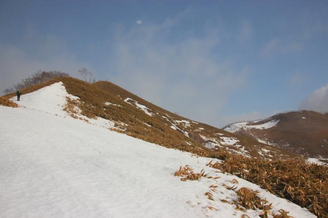 温泉富士 西峰から本峰へ