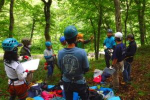 くしろ山岳会ロープワーク講習会