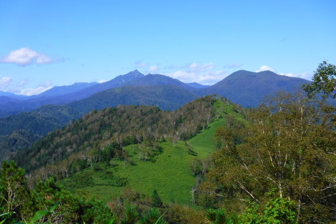 二ペソツ山と丸山方面