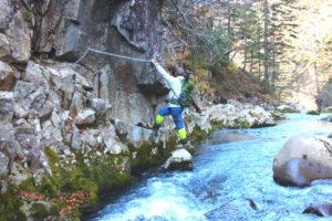 原始ヶ原 滝コース カニの横ばい