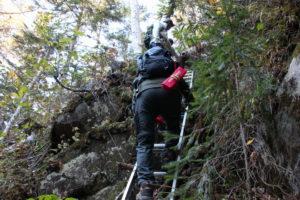 原始ヶ原 滝コース はしご