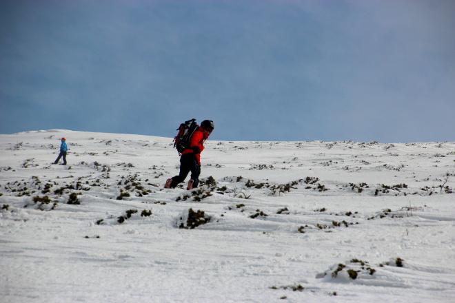 海別岳スノーボード滑走