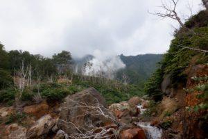 白水川 地熱 噴気