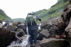 白水川 巨岩 沢