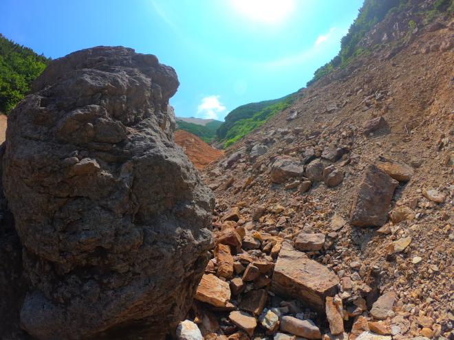 硫黄山下山